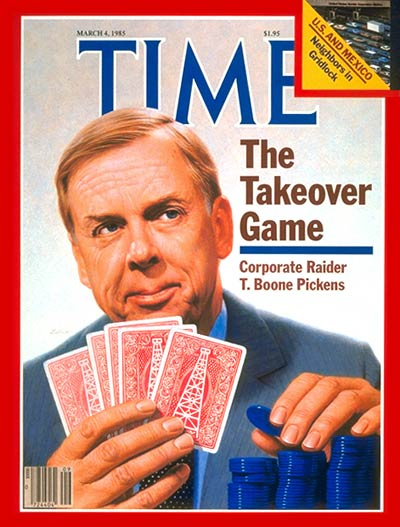 In 1985, Pickens made the cover of Time Magazine, securing his celebrity